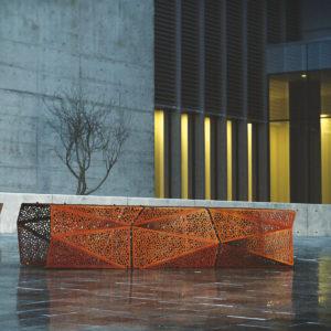mobilier urbain banc en acier LAB23