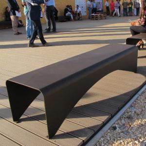 mobilier urbain banquette en acier LAB23