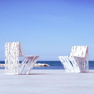 mobilier urbain chaise en acier LAB23