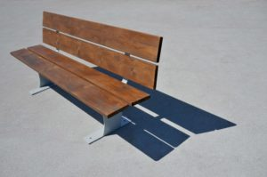 mobilier urbain banc en acier et bois LAB23