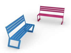 mobilier urbain bancs en acier LAB23