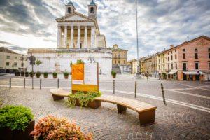 mobilier urbain personalisé pour la ville de Schio