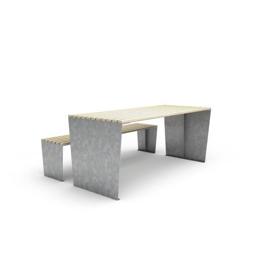 mobilier urbain banc et table LAB23