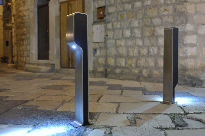 OMEGA-P-BY-NIGHT DISSUASORE CON LED arredo urbano LAB23