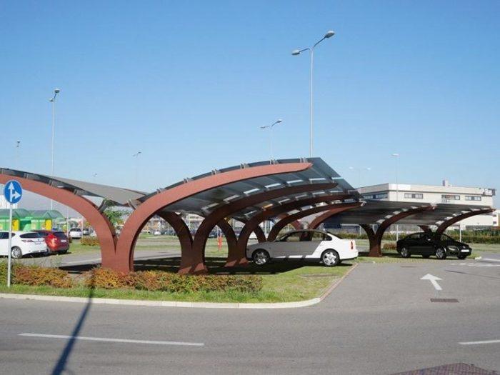 Vela tettoia per auto di arredo urbano LAB23