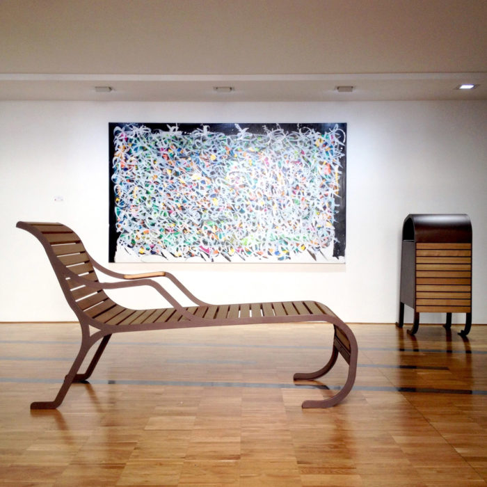 mobilier urbain chaise longue LAB23 Milan Design Week