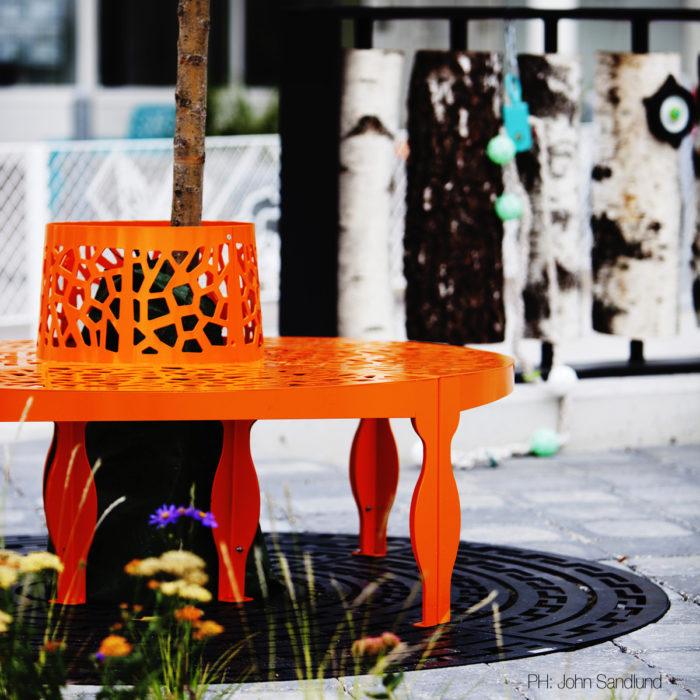 collezione Coral arredo urbano LAB23 per IKANO MALL SVEZIA