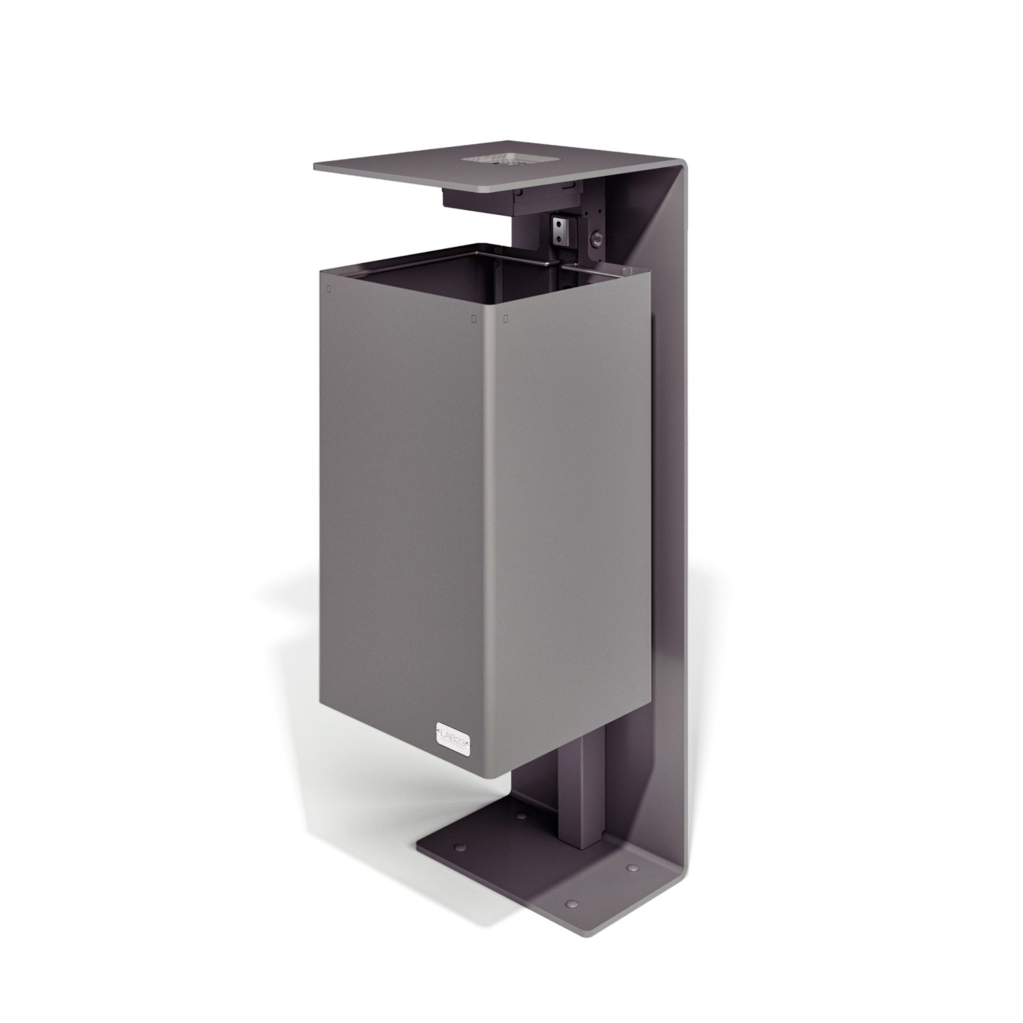 mobilier urbain corbeille avec cendrier LAB23