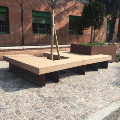 arredo urbano personalizzato di LAB23, per la città di San Lazzaro di Savena Bologna