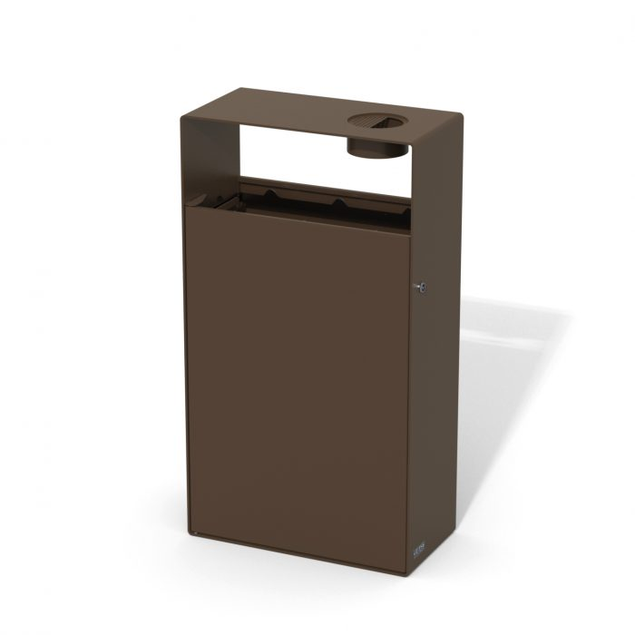 street furniture ground-floor litter bin in steel with ashtray LAB23