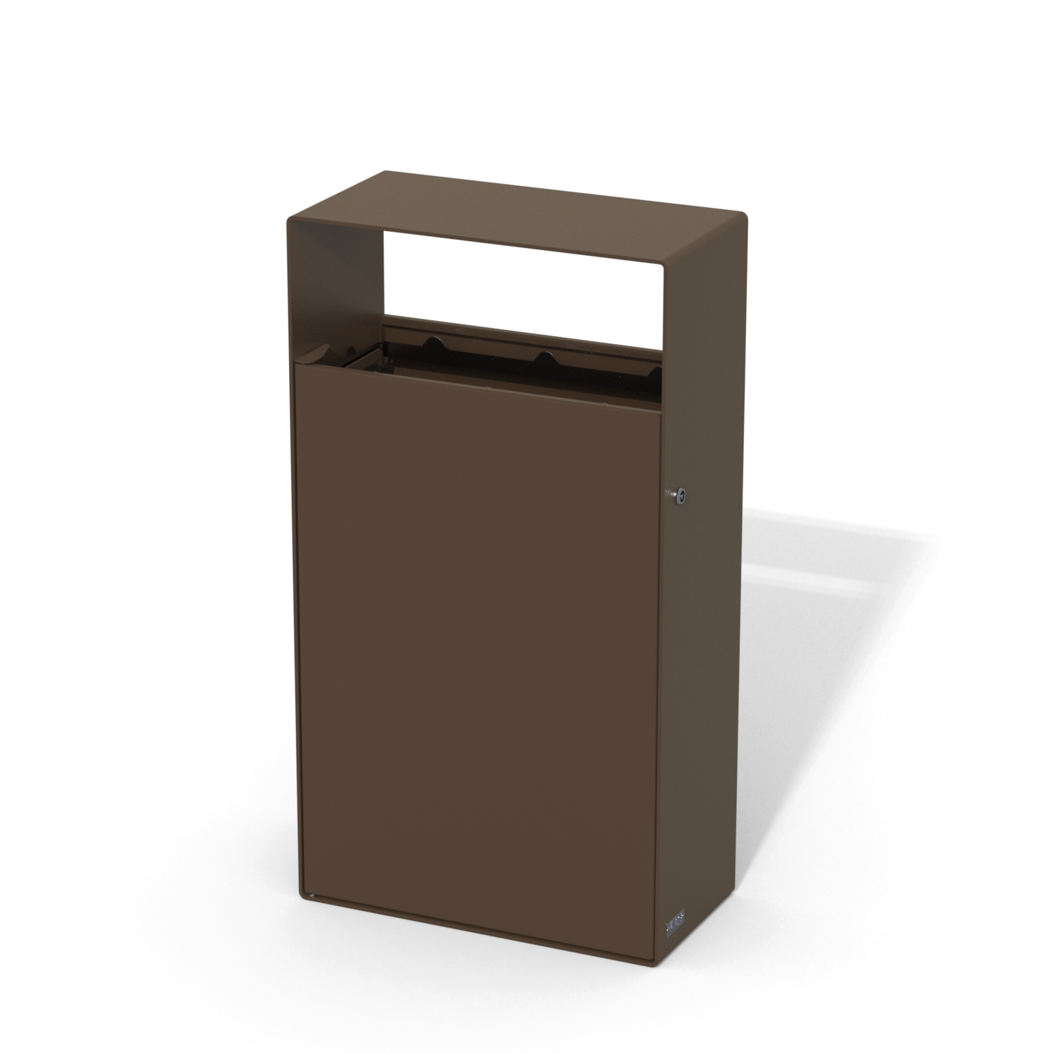 street furniture ground-floor litter bin in steel LAB23