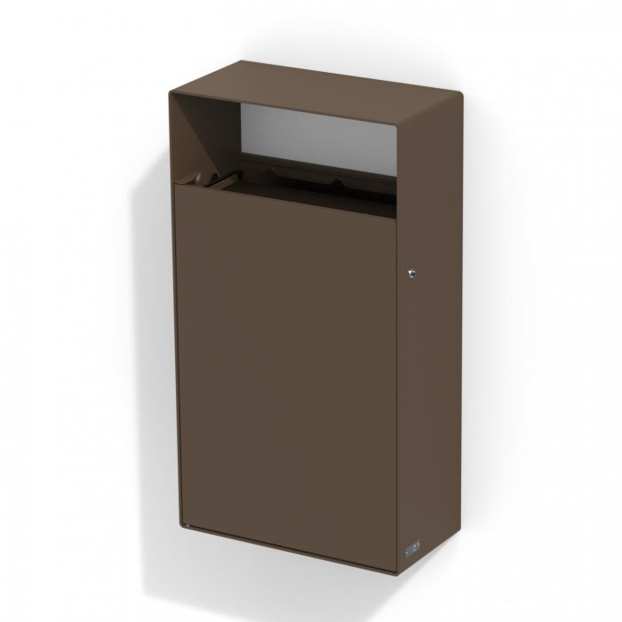 street furniture wall litter bin in steel LAB23