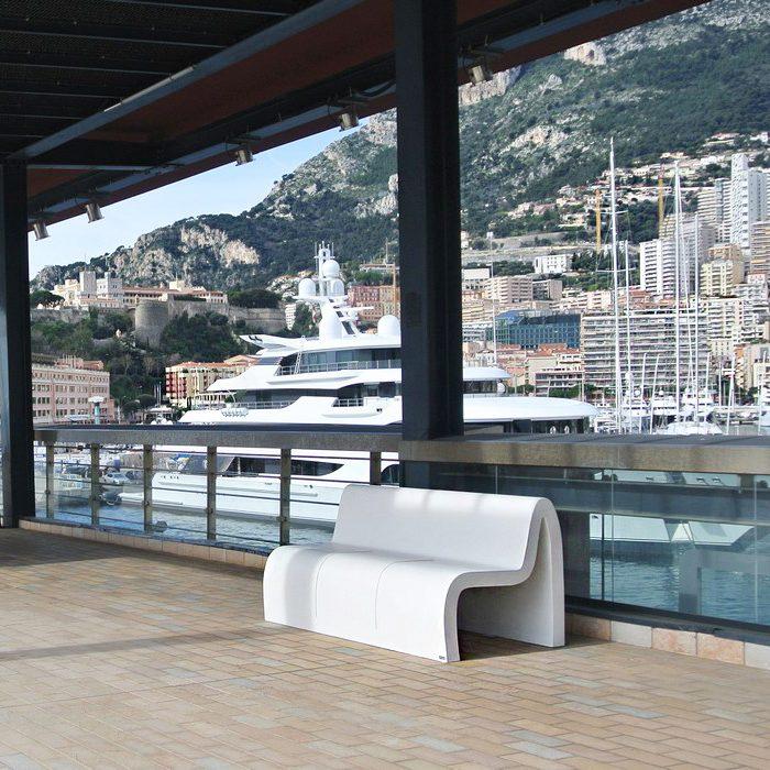 mobilier urbain banc LAB23 - DIGUE RAINIER III MONTECARLO - Principauté de Monaco