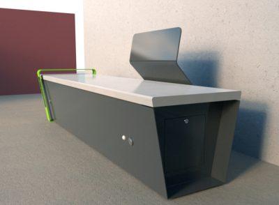 panchina intelligente con sensori e USB - ARREDO URBANO LAB23