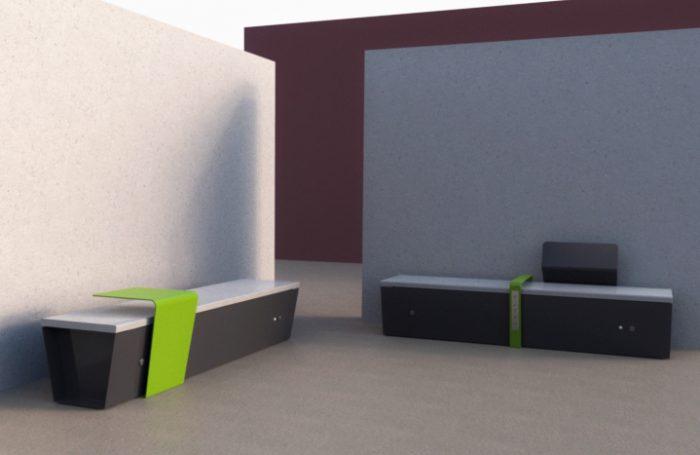 mobilier urbain banc intelligente LAB23