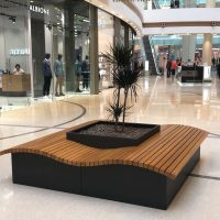 street-furniture-bench with planter quaddy LAB23
