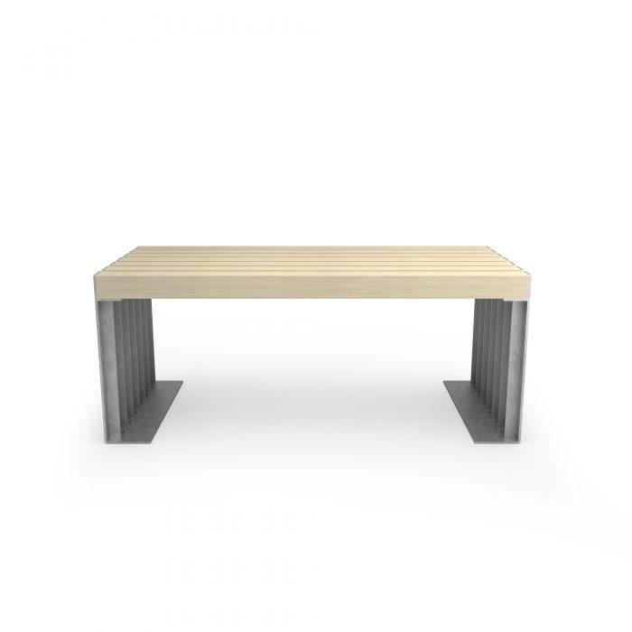 tavolo con materiali riciclati - arredo urbano ecosostenibile - LAB23