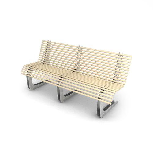 panchina con materiali riciclati - arredo urbano ecosostenibile LAB23