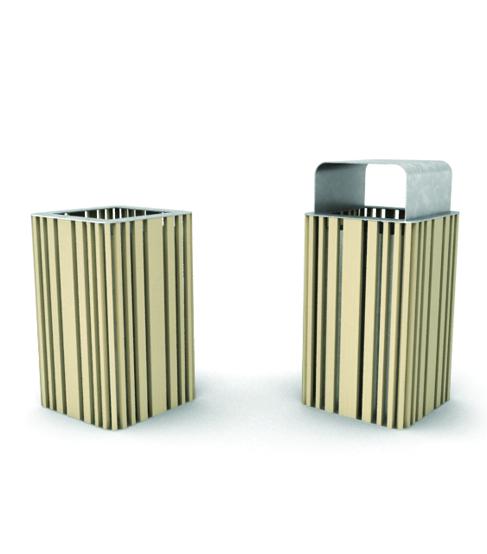 cestino con materiali riciclati - arredo urbano ecosostenibile - LAB23
