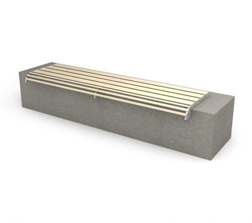 panchina con materiali riciclati - arredo urbano ecosostenibile - LAB23
