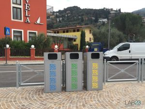 arredo urbano contenitore porta rifiuti LAB23 - Città di Nago Torbole